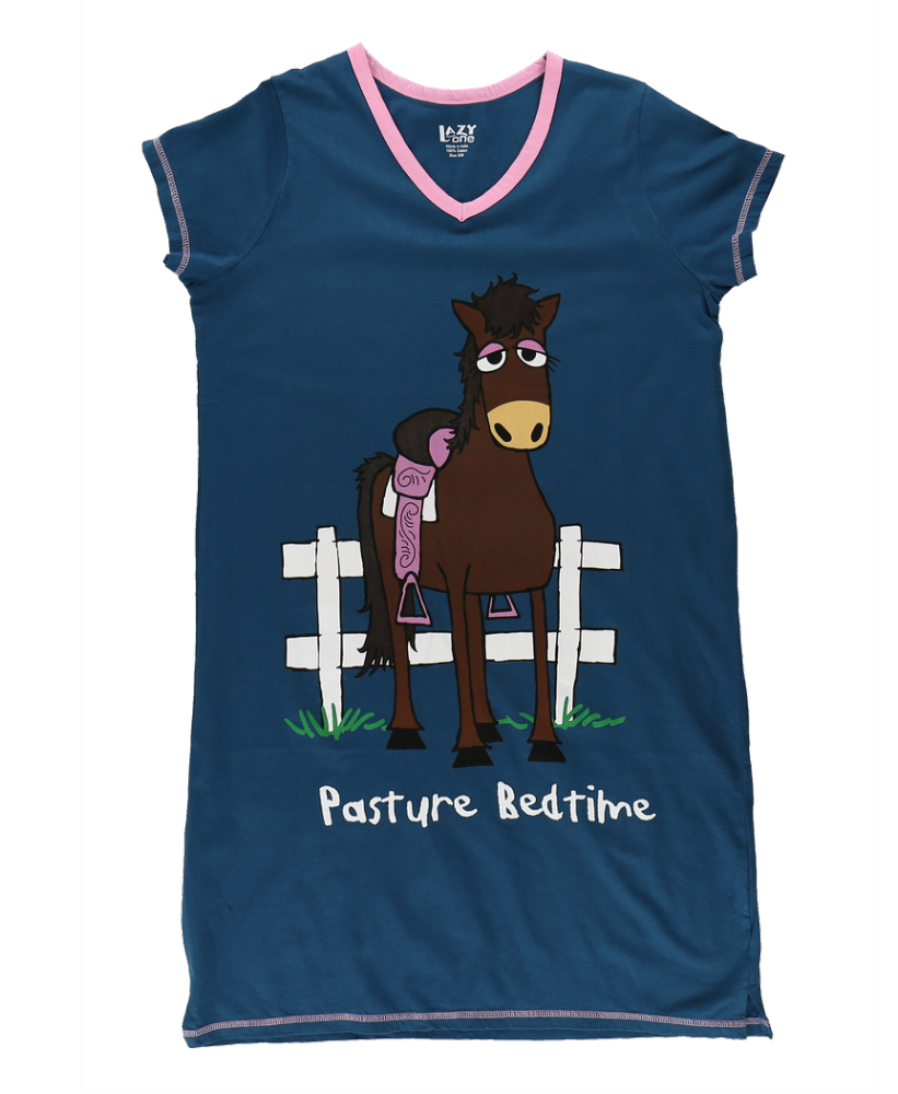 Pasture Bedtime - Women's V-Neck Nightshirt - Lazy One®